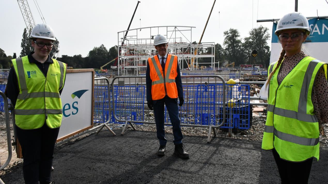Local people winning construction jobs and gaining new skills on Sandwell Aquatics Centre