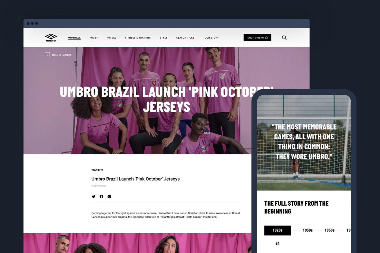 Umbro bolsters global brand presence with new digital platform