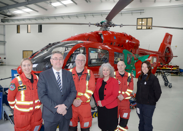 Swansea Building Society select Wales Air Ambulance as its nominated charity for 2021