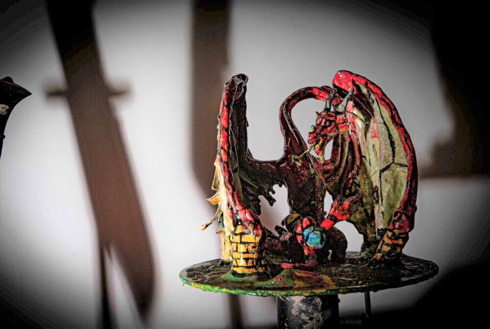 Three-metre 'Knife Dragon' will be used as a weapon for education campaign