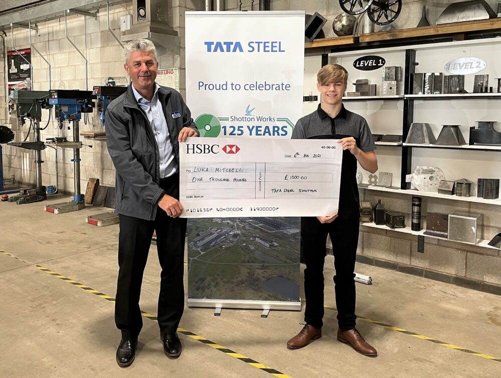 North Wales student designs metal sculpture for steel pioneer's 125th anniversary