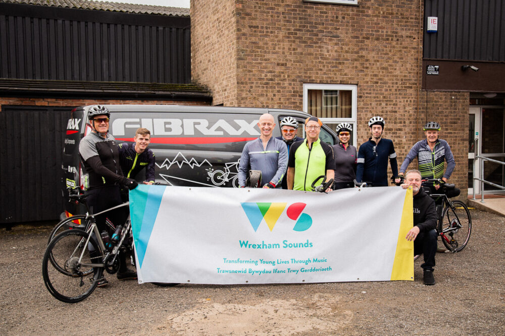 Cyclists complete gruelling 250-mile journey and raise more than £15k for music studio